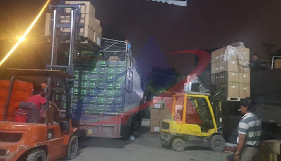 vận chuyển hàng đi hải phòng - chất hàng tại kho anpha